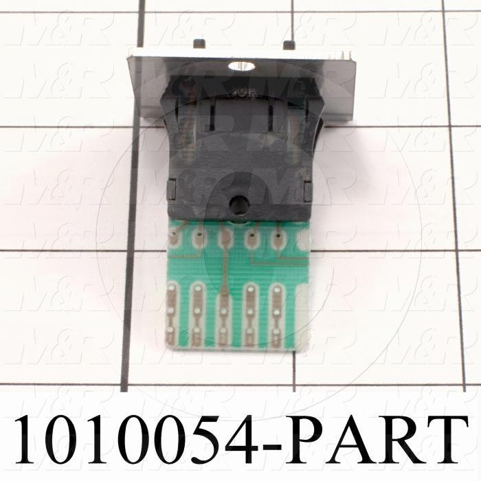 Thumbwheel Switch, Thumbwheel, BCD, 50VAC - 28VDC, 0.1A (resistive load), Assembly Unit
