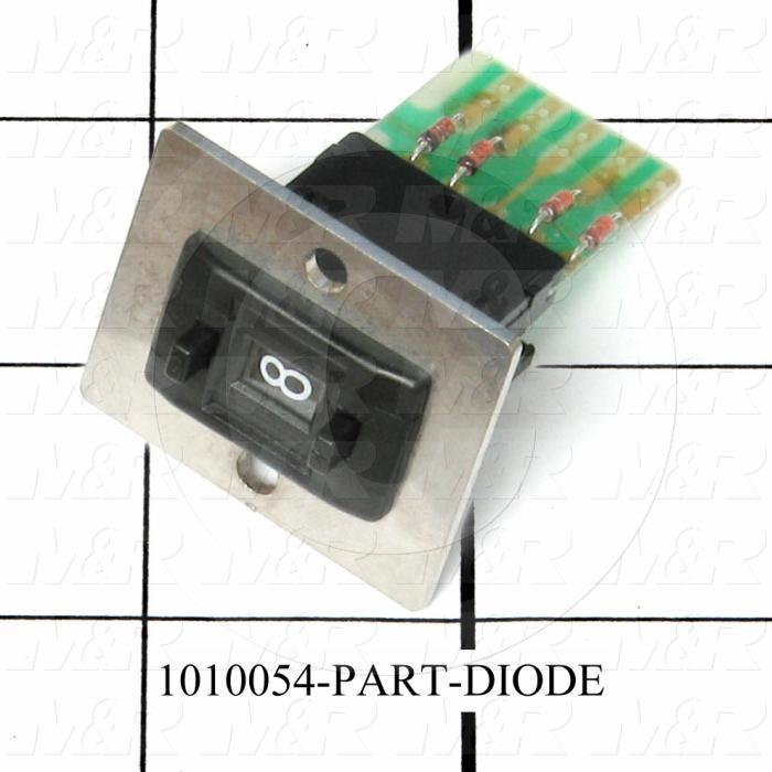 Thumbwheel Switch, Thumbwheel, BCD, with Connecting Diode, 50VAC - 28VDC, 0.1A (resistive load), Assembly Unit