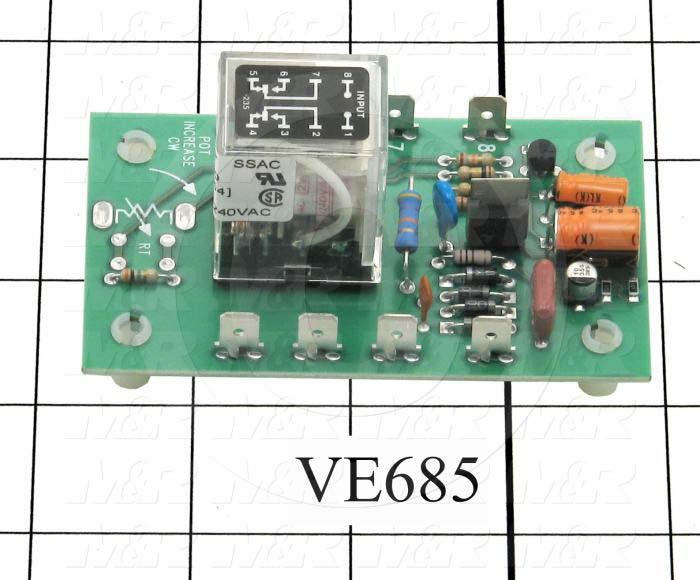 Time Delay Relay, 300 Sec, 240VAC