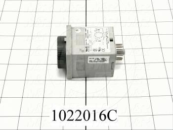 Timer, Count Down, 10 Minutes, Off-Delay, 100-240VAC, 11-Pin