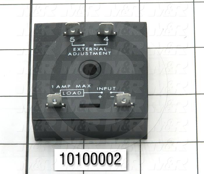 Timer, Solid State Cube Timer, .25-5S, 0.5-60 Sec Time Range, 1A Rating, 120VAC