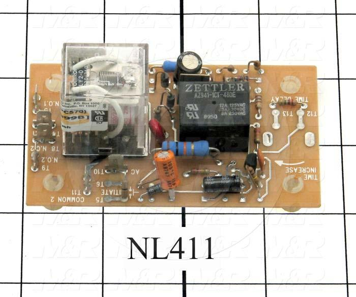 Timer, Timing Relay, .25-5S, On-Delay, 55 Sec Time Range, DPDT, With Resistor