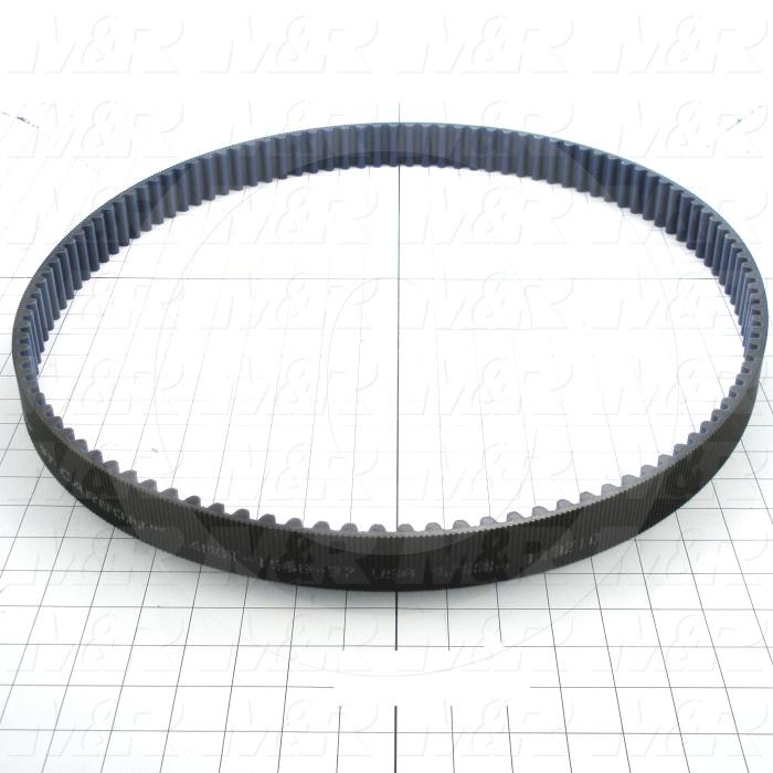 Timing Belt, Closed Type, GT Profile, 14 mm Pitch, 1568mm Length, 37mm Width, 112 Teeth