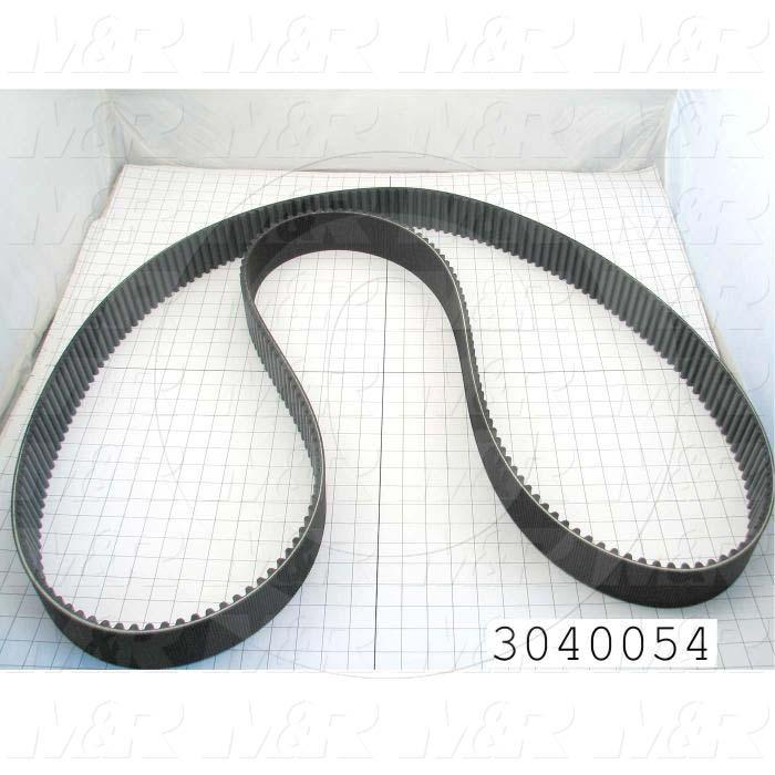 Timing Belt, Closed Type, GT Profile, 3500 mm Length, 68 mm Width, 250 Teeth