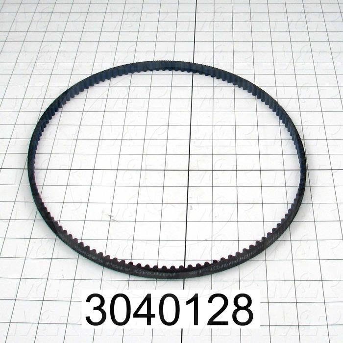 Timing Belt, Closed Type, GT Profile, 8 mm Pitch, 1000 mm Length, 12 mm Width, 125 Teeth - Details