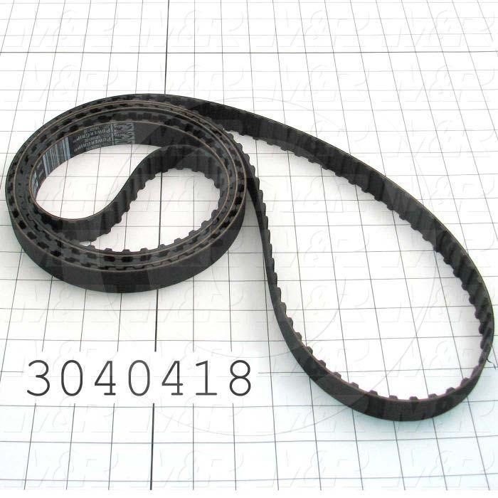 "Timing Belt, Closed Type, H Profile, 0.50"" Pitch, 140"" Length, 1.00"" Width, 280 Teeth"