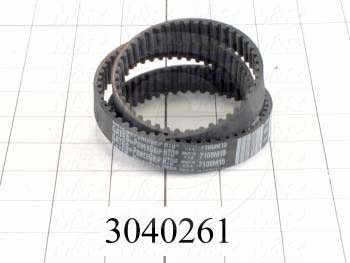 Timing Belt, Closed Type, HTD Profile, 5 mm Pitch, 710 mm Length, 15 mm Width, 142 Teeth