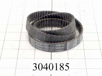 Timing Belt, Closed Type, HTD Profile, 5 mm Pitch, 740 mm Length, 15 mm Width, 148 Teeth