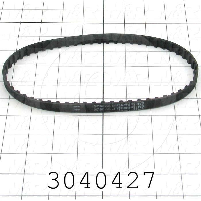 "Timing Belt, Closed Type, L Profile, 0.38"" Pitch, 21"" Length, 0.50"" Width, 56 Teeth"