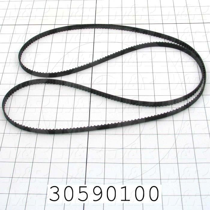 "Timing Belt, Closed Type, XL Profile, 0.20"" Pitch, 57"" Length, 0.38"" Width, 285 Teeth"