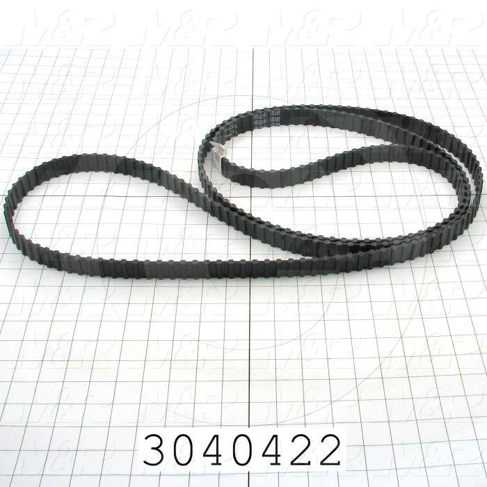 "Timing Belt, Double/Twin Type, H Profile, 0.50"" Pitch, 125"" Length, 1.00"" Width, 250 Teeth"