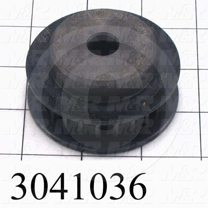 "Timing Belt Pulley, 0.63 in. Bore Size, GT2 Tooth Profile, 22 Teeth, 8 mm Pitch, 2.610"" Pitch Diameter, Steel Material, 12 mm Belt Width"