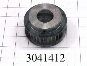 "Timing Belt Pulley, 1.25"" Bore Size, GT2 Tooth Profile, 30 Teeth, 8 mm Pitch, 3.450"" Pitch Diameter, Steel Material, 21 mm Belt Width"