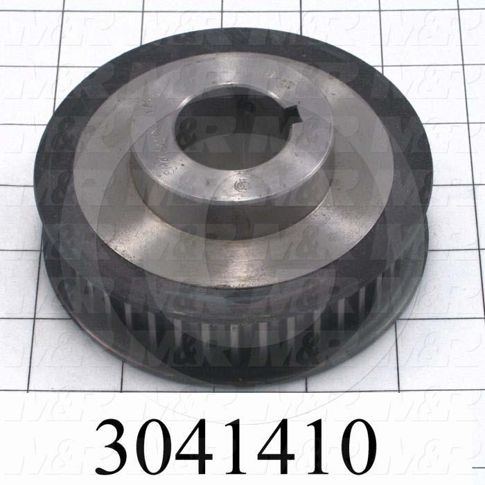 "Timing Belt Pulley, 1.25"" Bore Size, GT2 Tooth Profile, 40 Teeth, 8 mm Pitch, 4.010"" Pitch Diameter, Steel Material, 21 mm Belt Width"