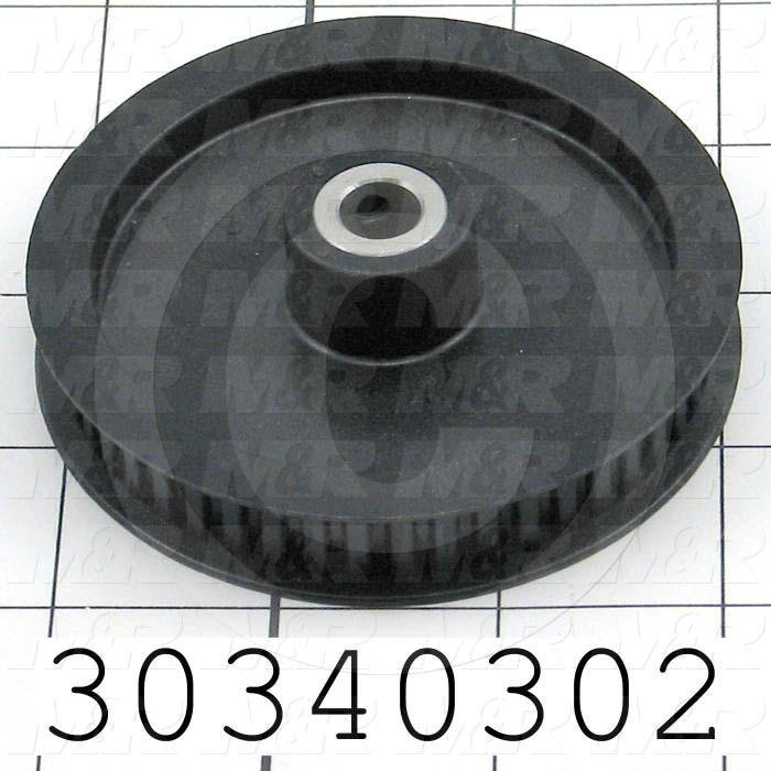 "Timing Belt Pulley, 3/8 in. Bore Size, XL Tooth Profile, 48 Teeth, 0.200 in. Pitch, 3.040"" Pitch Diameter, 0.88"" Height, Polycarbonate Material, 0.38"" Belt Width"