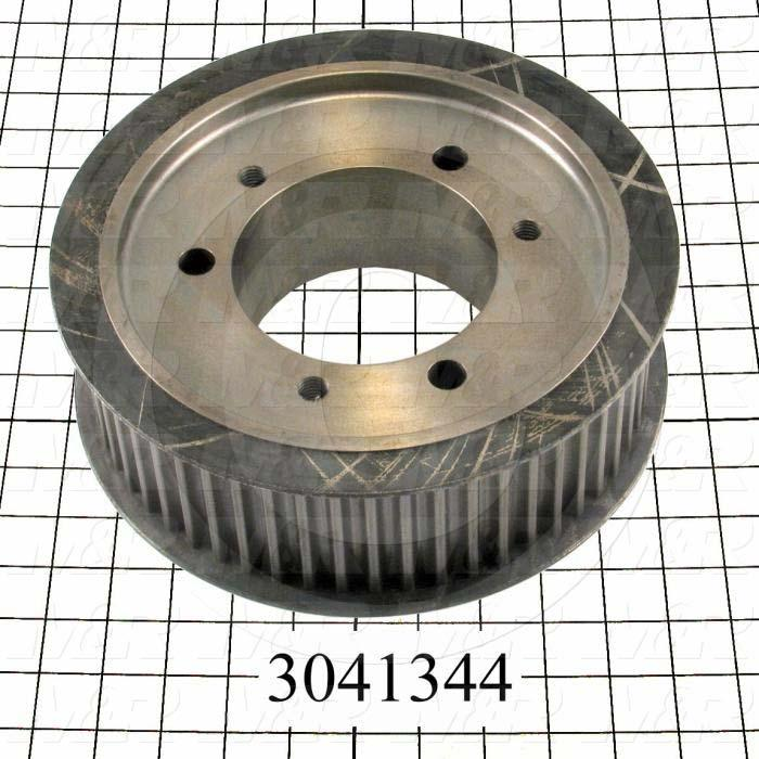 "Timing Belt Pulley, Q-D Bushing Bore Type, 56 Teeth, 14 mm Pitch, 9.82"" Pitch Diameter, Steel Material, 68 mm Belt Width, Static Balanced"