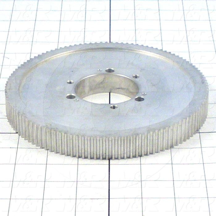 "Timing Belt Pulley, Q-D SDS Bushing Bore Type, 112 Teeth, 7.018"" Pitch, 6.980"" Pitch Diameter, Aluminum Material, 15 mm Belt Width"
