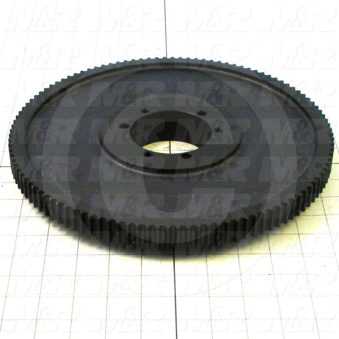 "Timing Belt Pulley, Q-D SK Bushing Bore Type, GT2 Tooth Profile, 112 Teeth, 8 mm Pitch, 11.175"" Pitch Diameter, Aluminum Material, 12 mm Belt Width"