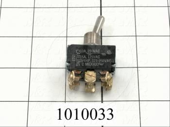 Toggle Switch, 3 Positions, DPDT