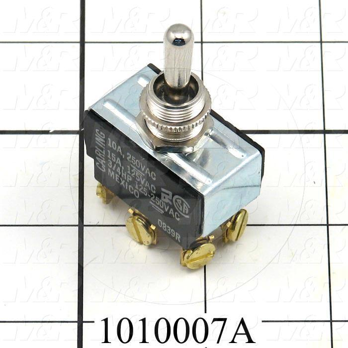 Toggle Switch, DPDT, 125VAC, 15A