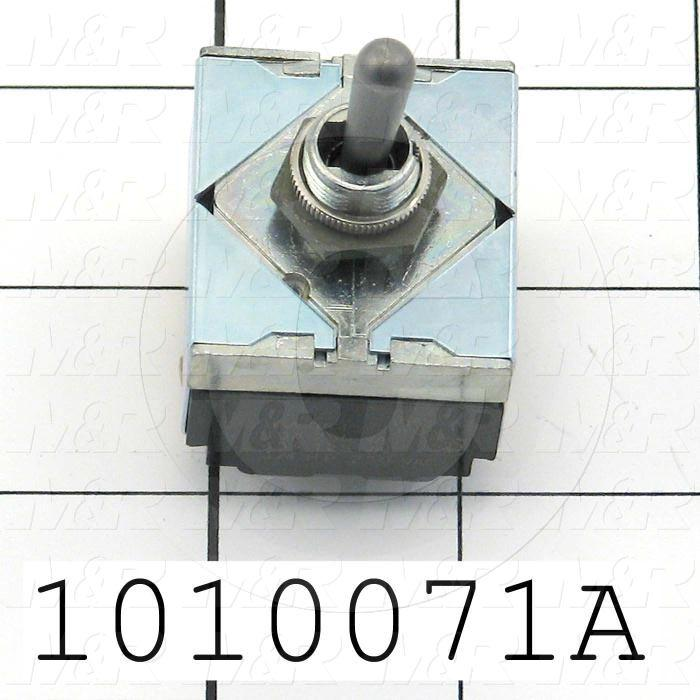 Toggle Switch, Hesitation, 3PDT, 125VAC, 15A