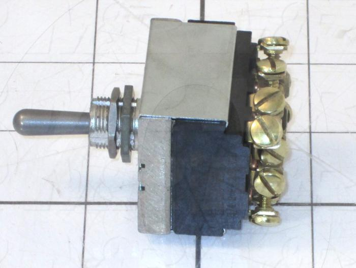Toggle Switch, Hesitation, 4PDT, 125VAC, 15A