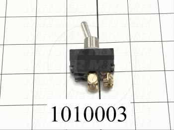 Toggle Switch, Maintained, 2 Positions, DPST, 250VAC, 10A