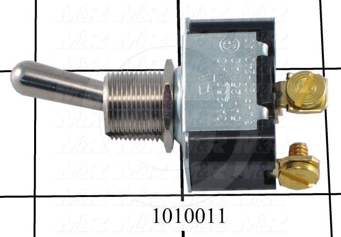 Toggle Switch, Maintained, 2 Positions, SPST, 250VAC, 10A