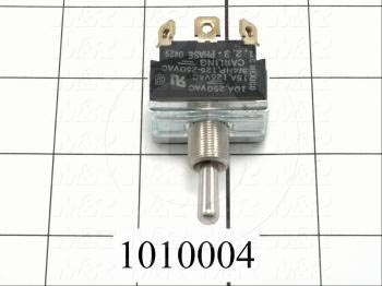 Toggle Switch, Maintained, 3 Positions, 3PST, 250VAC, 10A