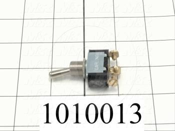 Toggle Switch, Maintained, 3 Positions, SPDT, 250VAC, 10A