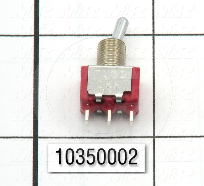 Toggle Switch, SPDT, 120VAC, 5A, Solder Lugs