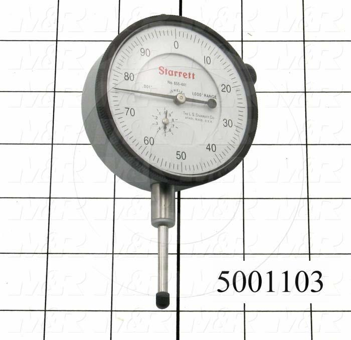 "Tools, Dial Indicator, 2 3/4"" Dial Indicator, 1.000"" Range, Dial Reading 0-100, .001"" Graduation"