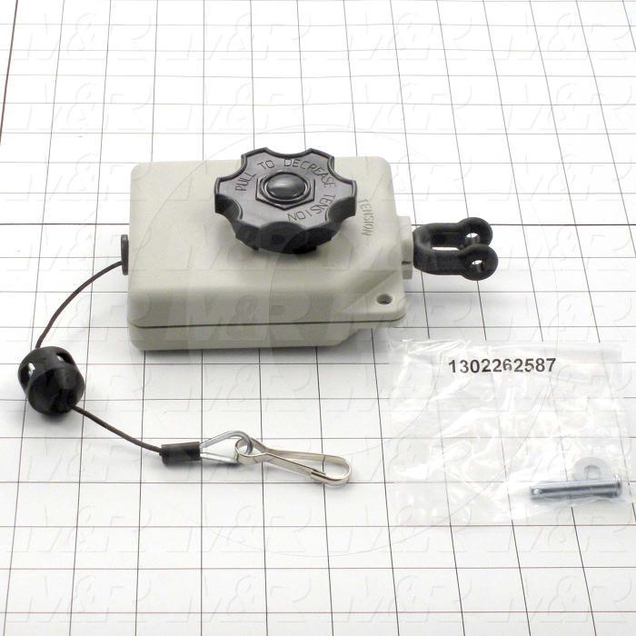 """Tools, Retractor, Low-Capacity Range Tool Retractor, 2-4 Lb Cap, 5.2' Travel, 1/16"""" Dia, Nylon Cable"""