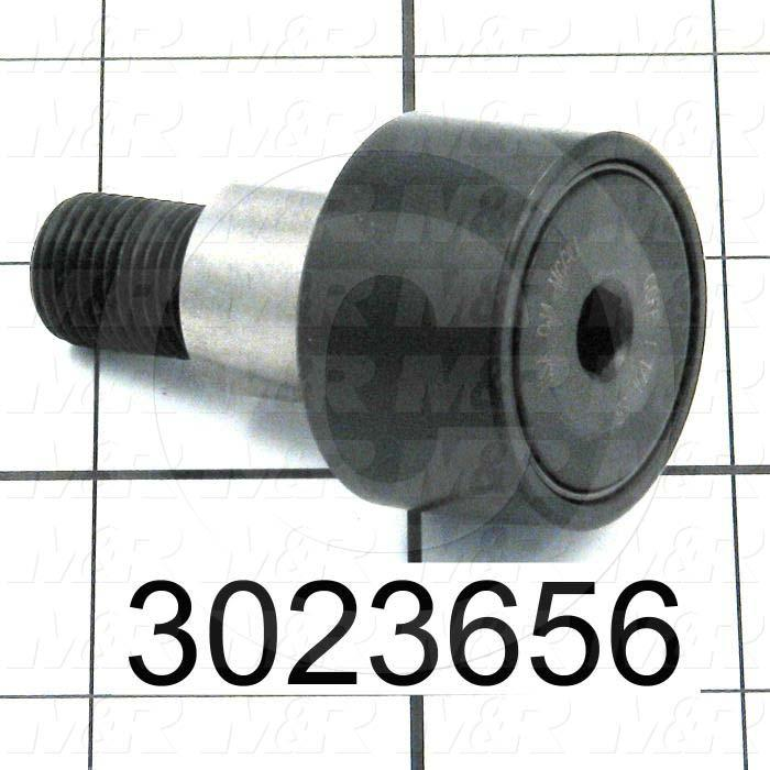 "Track Rollers, ANSI, Crowned Type, 1.25"" Roller Diameter, Eccentric Stud Type, 0.75"" Roller Width, 0.687"" Stud Diameter, Needle Rolling Element, Hex Hole Mounting Type, Sealed Seal Type"