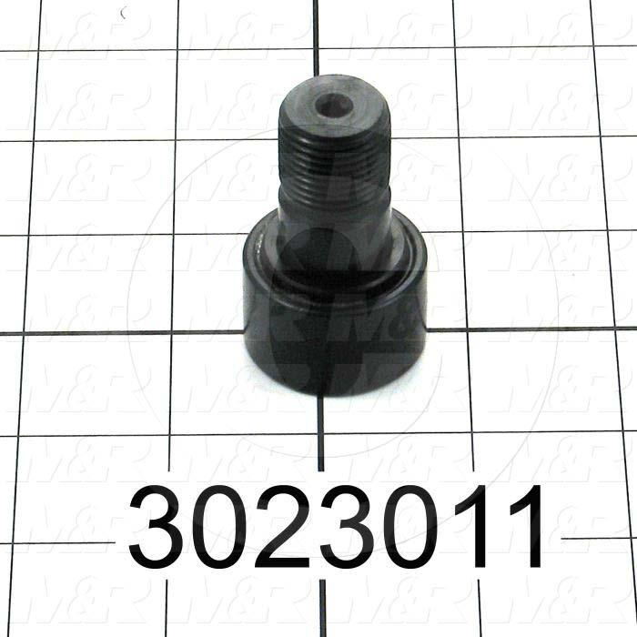 """Track Rollers, ANSI, Crowned Type, 1.25"""" Roller Diameter, Heavy Stud Type, 0.75"""" Roller Width, 0.75"""" Stud Diameter, Needle Rolling Element, Hex Hole Mounting Type, Sealed Seal Type"""