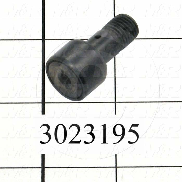 """Track Rollers, ANSI, Cylinder Type, 0.75"""" Roller Diameter, Heavy Stud Type, 0.50"""" Roller Width, 0.438"""" Stud Diameter, Needle Rolling Element, Hex Hole Mounting Type, Sealed Seal Type"""