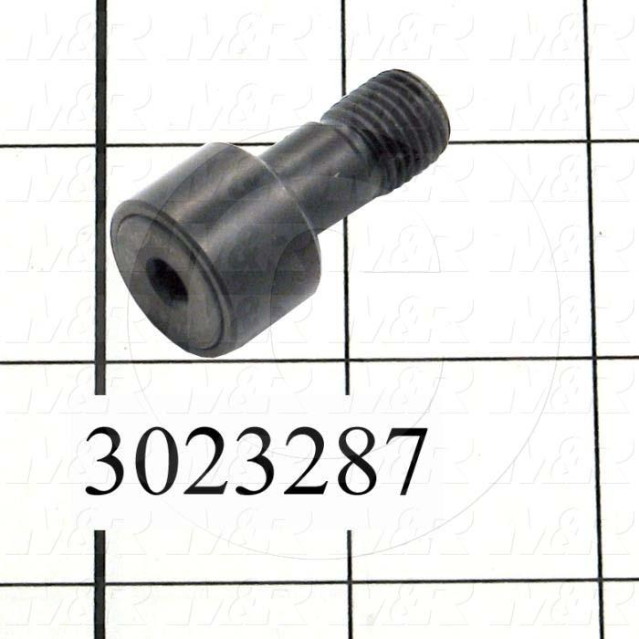 "Track Rollers, ANSI, Cylinder Type, 0.75"" Roller Diameter, Heavy Stud Type, 0.50"" Roller Width, 0.438"" Stud Diameter, Needle Rolling Element, Hex Hole Mounting Type, Sealed Seal Type"
