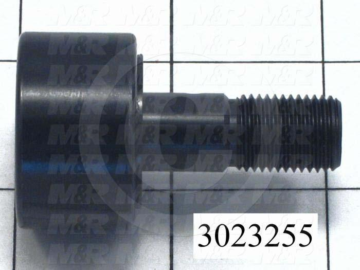 """Track Rollers, ANSI, Cylinder Type, 1.25"""" Roller Diameter, Standard Stud Type, 0.75"""" Roller Width, 0.50"""" Stud Diameter, Needle Rolling Element, Hex Hole Mounting Type, Sealed Seal Type"""
