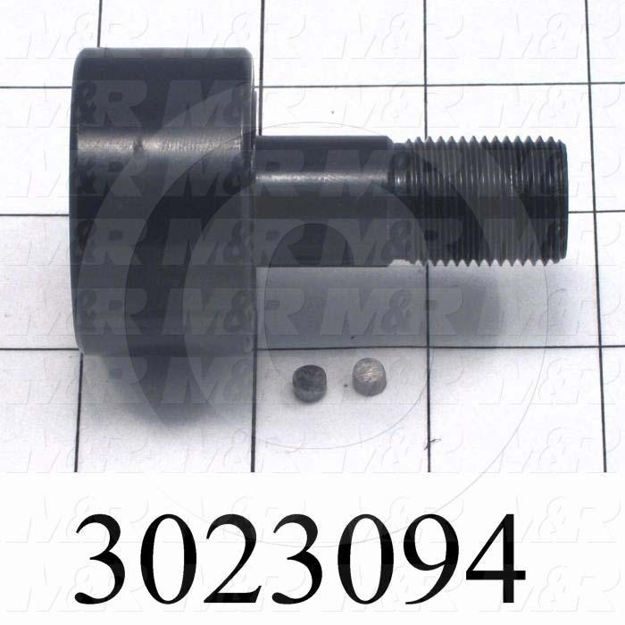 "Track Rollers, ANSI, Cylinder Type, 1.75"" Roller Diameter, Standard Stud Type, 1.00 in. Roller Width, 0.75"" Stud Diameter, Needle Rolling Element, Hex Hole Mounting Type, Sealed Seal Type"