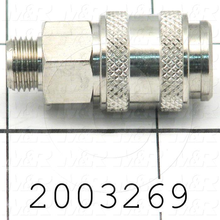 "Tube Compression Fittings, Quick Disconnect Plug Type, 1/8"" BSPP MALE Thread size, Quick Disconnect Plug Out, Brass Material"