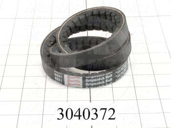 "V-Belts, B V-Belt Type, B31 Trade Size, 34"" Outside Length"