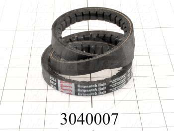 "V-Belts, B V-Belt Type, B34 Trade Size, 37"" Outside Length"