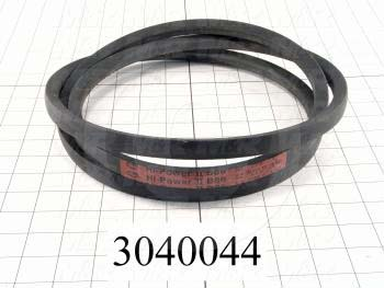 "V-Belts, B V-Belt Type, B51 Trade Size, 54"" Outside Length"