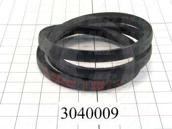 "V-Belts, B V-Belt Type, B55 Trade Size, 58"" Outside Length"