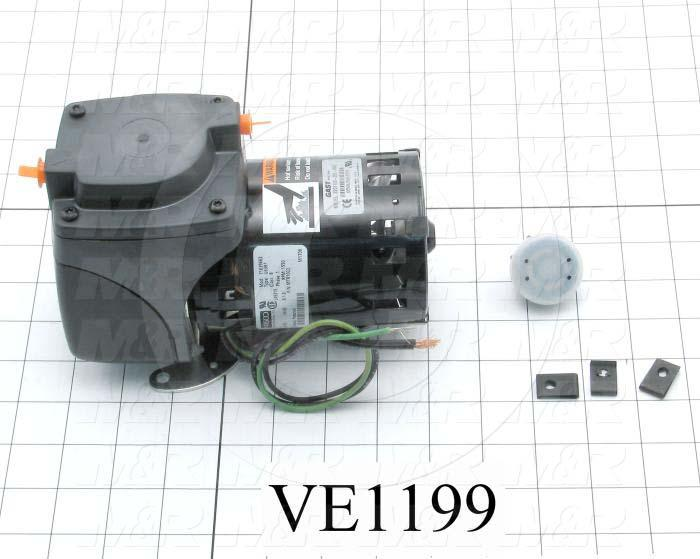 Vacuum Motor, 1/20HP, 1725 RPM, 115V, 60/50Hz