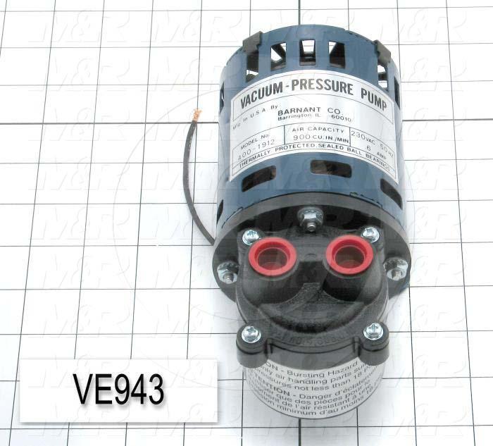 Vacuum Motor, 1/45HP, 1300 RPM, 230VAC, 50Hz
