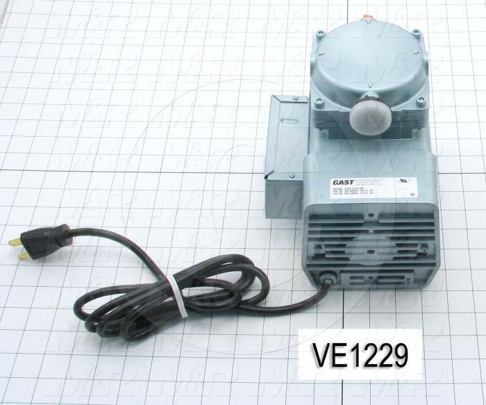 Vacuum Motor, 1/8HP, 1575/1275 RPM, 230/220V, 1 Phase, 60/50Hz