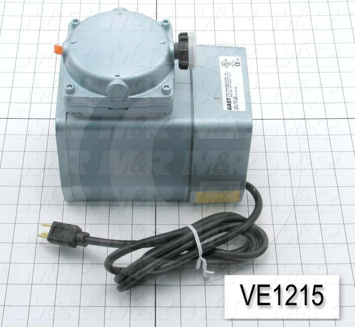 Vacuum Motor, 1/8HP, 1575 RPM, 115V, 60Hz