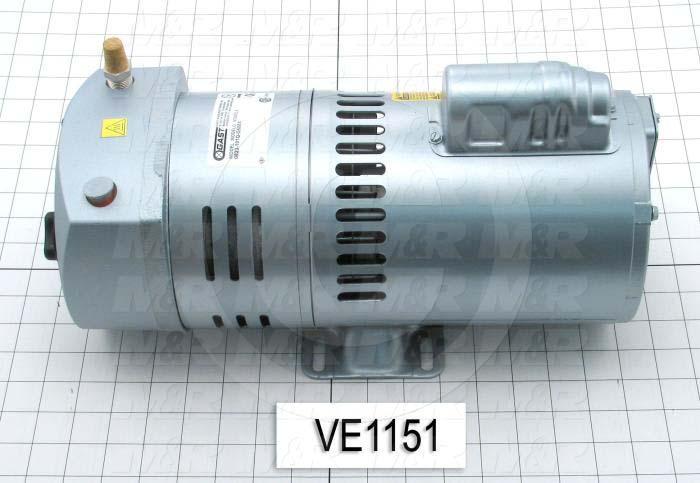 Vacuum Motor, 3/4HP, 1425 RPM, 115/230VAC, 1 Phase, 60/50Hz