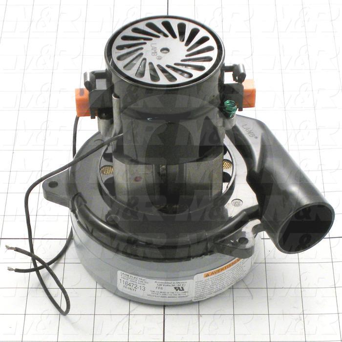 Vacuum Motor, 96 CFM, 110V, 1 Phase, 60/50Hz